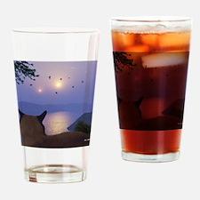 PeeringThroughTheMistMousepad Drinking Glass