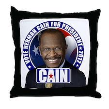 CAIN_button_cp Throw Pillow