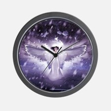 snowangel2sq1 Wall Clock