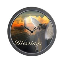 Lighthouse With Praying Angel Wall Clock