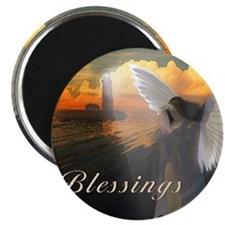Lighthouse With Praying Angel Magnet