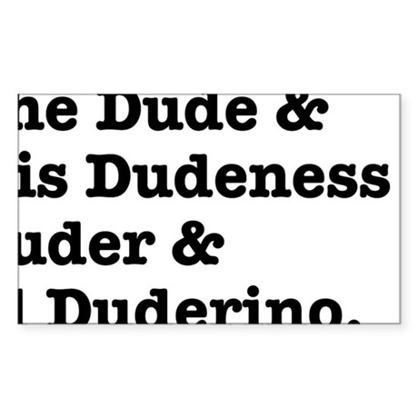 thedude Sticker (Rectangle)