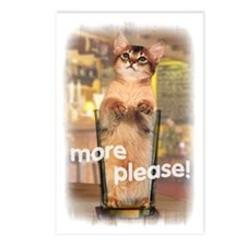 543 Kitten in a Beer Glas Postcards (Package of 8)