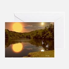 SecludedDuskMousepad Greeting Card