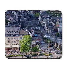 Cochem. Town riverfront along Mosel Rive Mousepad