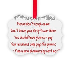 Pharmacist Thoughts Picture Ornament
