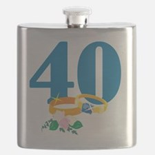 RingsFloral40 Flask