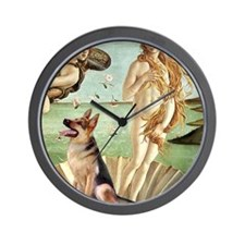 Birth of Venus - German Shepherd 1 Wall Clock