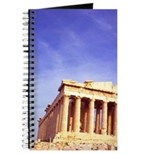 Ancient Greece Parthenon on Acropolis in A Journal