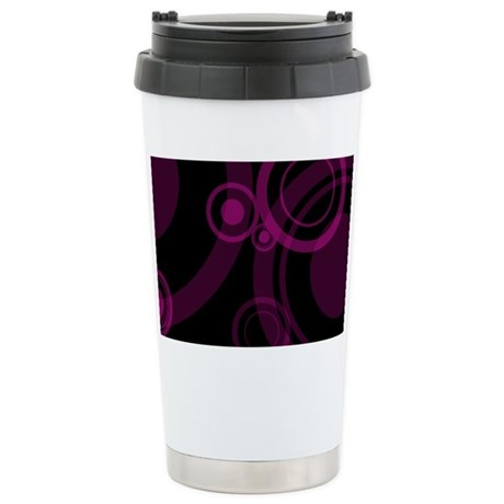 CLUTCH - pink swirls Stainless Steel Travel Mug