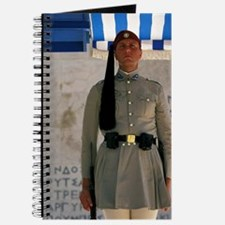 Athens. Evzoni soldier in front of Greek P Journal