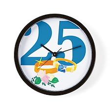 RingsFloral25 Wall Clock