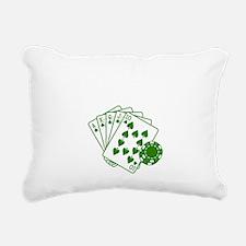 ratherbePoker3 Rectangular Canvas Pillow