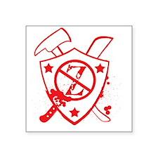 """Zombie-sheild Square Sticker 3"""" x 3"""""""