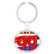 WE ARE copy copy Oval Keychain