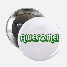 Green Awesome 80's Button
