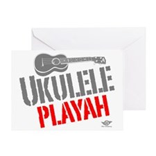 Ukulele Playah Greeting Card