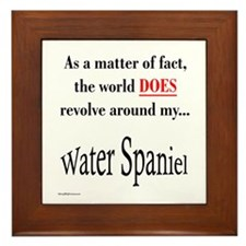 Water Spaniel World Framed Tile