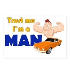 Trust me Im a man Postcards (Package of 8)