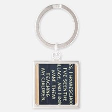 homeschool-ipad-case Square Keychain