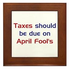 Tax Day Fools Framed Tile