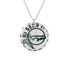 Send it Necklace Circle Charm