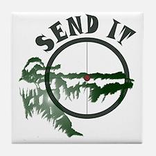 Send it Tile Coaster