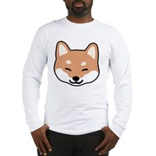 shibaface2 Long Sleeve T-Shirt