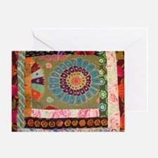circle quilt Greeting Card
