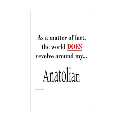 Anatolian World Rectangle Sticker