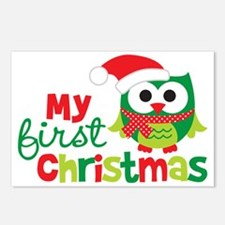 1stChristmasOwl_V2 Postcards (Package of 8)