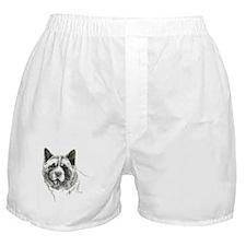 akita-head-pen-ink Boxer Shorts