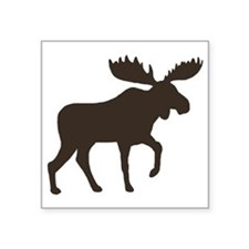 "moosebrown Square Sticker 3"" x 3"""