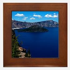 (12) Crater Lake  Wizard Island Framed Tile