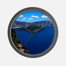 (12) Crater Lake  Wizard Island Wall Clock