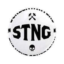 """STNG_LA_black_4inches 3.5"""" Button"""