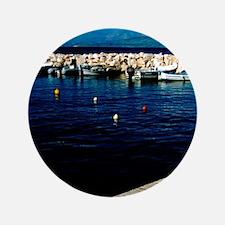 "Albania in distanceian Islands, Corfu  3.5"" Button"