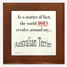 Australian Terrier World Framed Tile