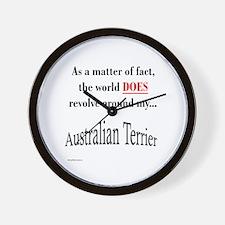 Australian Terrier World Wall Clock
