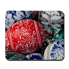 Colorful painted wooded eggsapest. Tradi Mousepad