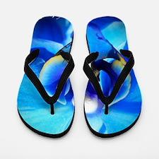 Blue Orchid Flip Flops