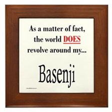 Basenji World Framed Tile