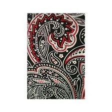 443 Black Paisley Rectangle Magnet