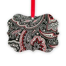 Toiletry Black Paisley Picture Ornament