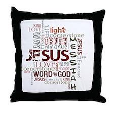 jesuswordcloud3 Throw Pillow