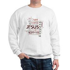 jesuswordcloud3 Sweatshirt