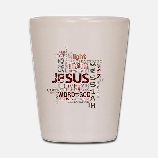 jesuswordcloud3 Shot Glass