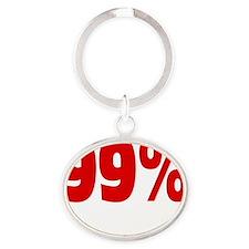 99 percentstrong dark  tees Oval Keychain