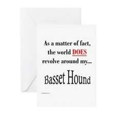Basset Hound World Greeting Cards (Pk of 10)