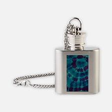 443 Purple Tie-Dye Flask Necklace